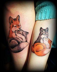 Iren Shotidi #neoraditional #russiatattoo #tattoo #moscowtattoo #tattos #black #ink #тату #fox #лисы #парныетату #цвет #color