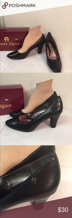 """Etienne Aigner Black Haven Classic Pumps Shoes Excellent clean condition.  Size 8M.  Classic pumps with 4"""" heel. Etienne Aigner Shoes Heels"""