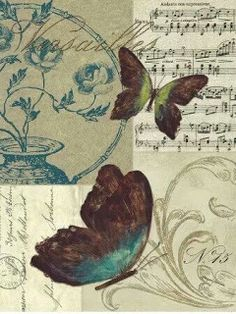 25 New Ideas for vintage paper collage free images Decoupage Vintage, Decoupage Paper, Vintage Paper, Butterfly Images, Butterfly Cards, Butterfly Print, Paper Butterflies, Beautiful Butterflies, Vintage Pictures