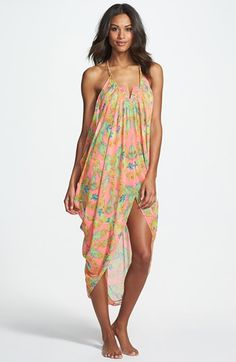 Mara Hoffman 'Garlands' Chiffon Cover-Up Drape Dress available at #Nordstrom