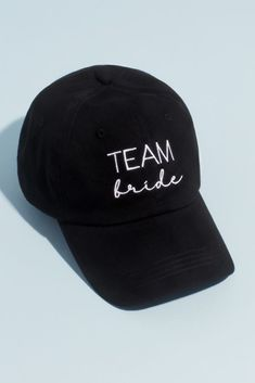Throw on this embroidered team bride baseball cap at the bachelorette party for a sporty-cute touch to your outfit. Cotton, polyester Velcro closure 11 D Imported Desert Bachelorette Party, Bachelorette Party Shirts, Bachelorette Ideas, Team Groom, Team Bride, Bridal Shower Attire, Monsieur Madame, Boat Wedding, Baseball Cap
