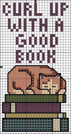 Killer Crafts & Crafty Killers--Cross Stitched Cat Bookmark