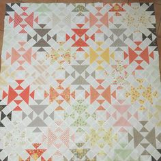 Wild Goose Chase Quilt by Katherine Jones using Sundrops fabric by Corey Yoder.