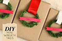 Mini Wreath Gift Tags