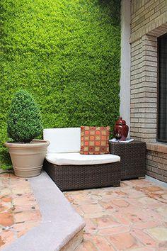 Dise os rusticos de tapiales madera mamposteria y metales for Decoracion jardin vertical artificial