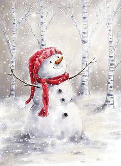 Christmas Panda, Christmas Snowman, Christmas Crafts, Christmas Decorations, Xmas, Christmas Clipart, Snowmen Paintings, Christmas Paintings On Canvas, Snowmen Pictures