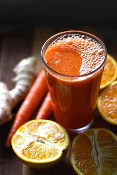 Ginger, carrot, orange juice