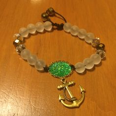 I just listed Green Druzy/Anchor F… ($8) on Mercari! Come check it out! http://item.mercariapp.com/gl/m948762635