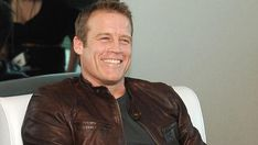 Mark Valley= Chance on Human Target Mark Valley, Human Target, Thriller, Crime, Leather Jacket, Celebrities, Adele, Google Search, Board
