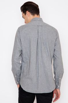 Gitman Bros. Vintage Grey Shaggy Flannel
