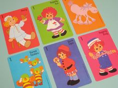 Vintage Hallmark Raggedy Ann and Andy Cards from card game