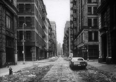 Thomas Struth (German, born Geldern, 1954). Crosby Street / Spring Street, New York, 1978. The Metropolitan Museum of Art, New York. Gift of Henry S. Hacker, 1982 © Thomas Struth (1982.1053.1) | Struth began his survey of cities in his native Düsseldorf, Germany, but it was on a scholarship to New York in 1978 that the artist found an ideal combination of conceptual order and practical chaos to hone his rigorous vision. #newyork #nyc