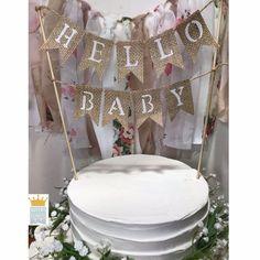 Hello Baby banner, Hello Baby cake topper, IT'S A GIRL banner, Burlap Cake Topper, Baby Shower cake Rustic Cake Toppers, Personalized Cake Toppers, Wedding Cake Toppers, Baby Banners, Shower Banners, Baby Cake Topper, Baby Cakes, Baby Shower Finger Foods, Burlap Cake