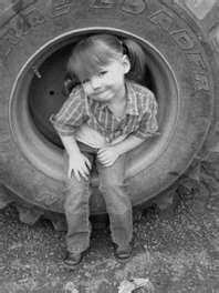 around here you dont have a seat, you sit in a tractor tire. &hearts