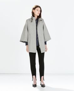 Image 1 of CAPE COAT WITH POCKETS from Zara