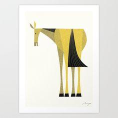 Horse Art Print by Ryo Takemasa.