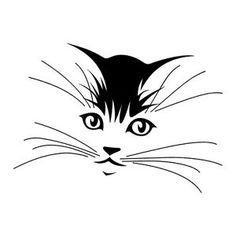cat face outline   eBay