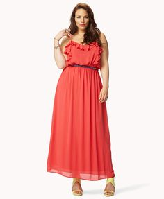 Ruffled Georgette Maxi Dress   FOREVER21 PLUS - 2036057012