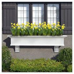 5' Yorkshire Window Box - White - Mayne