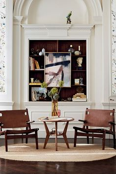 Artful yet understated, this modern respite - designed by Soho Home in collaboration with Anthropologie - boasts a durable oak frame and a supportive leather sling for stylish yet comfortable seating. Dream Furniture, Luxury Furniture, Living Room Furniture, Home Furniture, Furniture Logo, Living Rooms, Outdoor Furniture, Furniture Companies, Wooden Furniture
