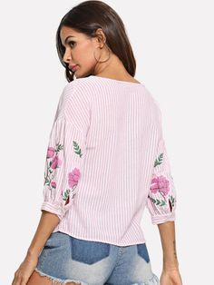 Cotton Available in XS, Small, Med, Large US 2 4 6 Size XS S M L Shoulder Bust Waist Size Length Sleeve Length Bicep Length Cuff 10 Top P, Half Sleeves, Flower Prints, Lanterns, Bell Sleeve Top, Floral, Boho, Womens Fashion, Cotton
