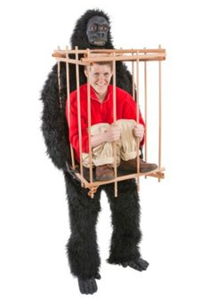 Gorilla With A Man In A Cage - Halloween costume