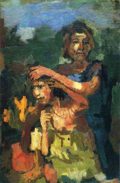 Two Girls, 1922 by Oskar Kokoschka on Curiator, the world's biggest collaborative art collection. Gustav Klimt, Max Beckmann, Max Ernst, Kandinsky, Franz Marc, Max Oppenheimer, Rainer Fetting, Ludwig Meidner, Karl Schmidt Rottluff