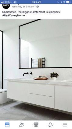 Black and White Bathroom Design . Black and White Bathroom Design . A Contrasting Black and White Bathroom Echoes the Floor Laundry In Bathroom, Bathroom Faucets, Bathroom Wall, Small Bathroom, Bathroom Ideas, Bathroom Black, Bathroom Hardware, Master Bathroom, Light Bathroom