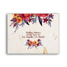 Get Response Card wedding envelopes from Zazzle. Wedding Envelopes, Custom Envelopes, Wedding Stationary, Wedding Cards, Wedding Invitations, Response Cards, No Response, Fall Wedding, Autumn Weddings