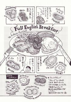 おなかいっぱいブレックファスト   ながらりょうこ   AWRD アワード Manga Drawing Tutorials, Manga Tutorial, Art Reference Poses, Drawing Reference, Food Illustrations, Illustration Art, Recipe Drawing, Food Sketch, Insect Art