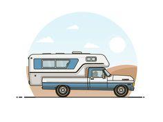 Camper Van by Al Barry - Dribbble