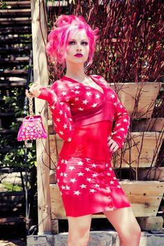 UpCycled Kawaii Fashion Patchwork Sweater Dress in by glaciermilk, $169.00