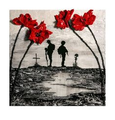 'Remember And Reflect' - POSH Original Art by Jacqueline Hurley Remembrance Poppy painting soldier Remembrance Flowers, Remembrance Day Poppy, Remembrance Day Posters, Remembrance Day Drawings, Remembrance Day Images, Tattoo Studio, Wordpress Theme, Ww1 Art, Original Paintings
