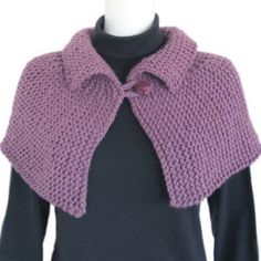 Keep warm and comfortable with our Shoulder Wrap - a caplet in bulky yarn. Size: Adult Yarn: 2 skeins of Morehouse Merino Bulky Needles: circular or longer OR single-point Crochet Hook: 5 mm or mm Knitted Cape Pattern, Knitted Capelet, Gilet Crochet, Crochet Cape, Poncho Knitting Patterns, Easy Knitting, Knit Or Crochet, Crochet Shawl, Knit Patterns