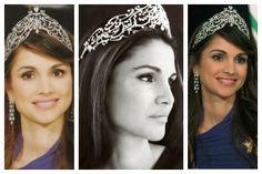 Queen Rania of Jordan in the Arabic Scroll Tiara (2004)