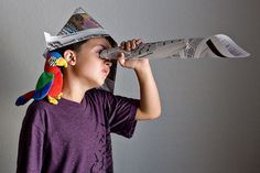 Activities, Ideas, Travel, Movies & Technology for Kids - All for the Boys - Talk Like a Pirate Day! Newspaper Hat, Newspaper Crafts, Activities For Boys, Craft Activities, Indoor Activities, Crafts For Boys, Fun Crafts, Pirate Day, Pirate Dress