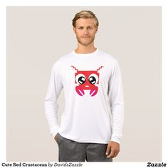 Cute Red Crustacean Men's Tee Available on many products! Hit the 'available on' tab near the product description to see them all! Thanks for looking!  @zazzle #art #cute #cartoon #crustacean #lobster #crab #drawing #digital #red #sweet #nice #friend #women #men #kids #clothes #fashion #style #apparel #tee #tshirt #hoody #sweatshirt #shop #gift #idea #shopping #buy #sale