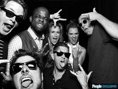 Psych Cast- I love how I didn't recognize Lassie at first..
