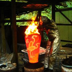 Dave and Boni Deal An amazing Raku Firing!