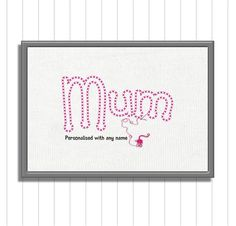 Mothers Day Gift, Mothers Day Printable, Gift for Mum, Mam Gift, Printable for M. Gifts For Mum, Mother Gifts, Mothers, Friend Birthday, Birthday Gifts, Button Family Picture, Childrens Gifts, Wedding Boxes, Baby Crafts