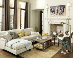 Matching a coffee table to your sectional sofa