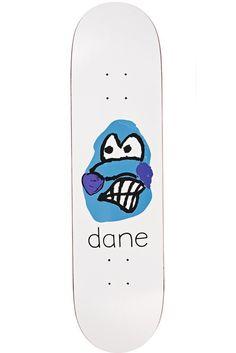 Dane Brady Face White Skateboard Deck by Polar