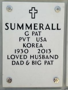 Grave Marker- Pat Summerall, American NFL player and sportscaster.  His is buried in the Dallas-Fort Worth National Cemetery, Dallas,Texas. http://www.thefuneralsource.org/deathiversary/april/16.html