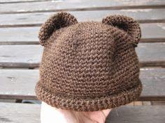 Kostenlose Häkelanleitung für Neugeborenen Mütze, ca. 32-34 cm Kopfumfang.