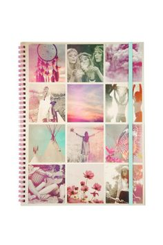 a4 spinout notebook BOHO COLLAGE