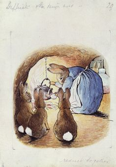 Beatrix Potter, 'Original illustration (unused) for The Tale of Peter Rabbit' © Frederick Warne & Co. 2006
