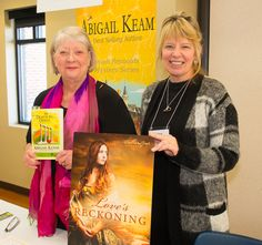 Abigail with historical romance writer, Laura Frantz