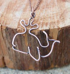 Whale Necklace. Whale Jewelry. Copper. Oxidized. Wire Jewelry via Etsy