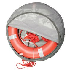 The Set Lifebuoy Ring SOLAS includes 1 lifebuoy ring, 1 lifebuoy light and floating rope, Ø Lifebuoy, Safety, Gray, Rings, Image, Cool Stuff, Security Guard, Grey