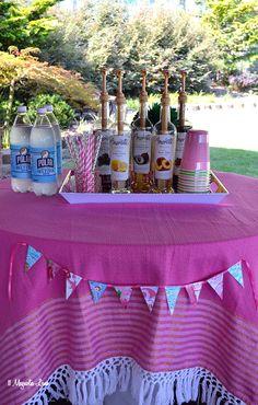 Italian soda bar at Lilly Pulitzer themed teen girl's birthday party | 11 Magnolia Lane